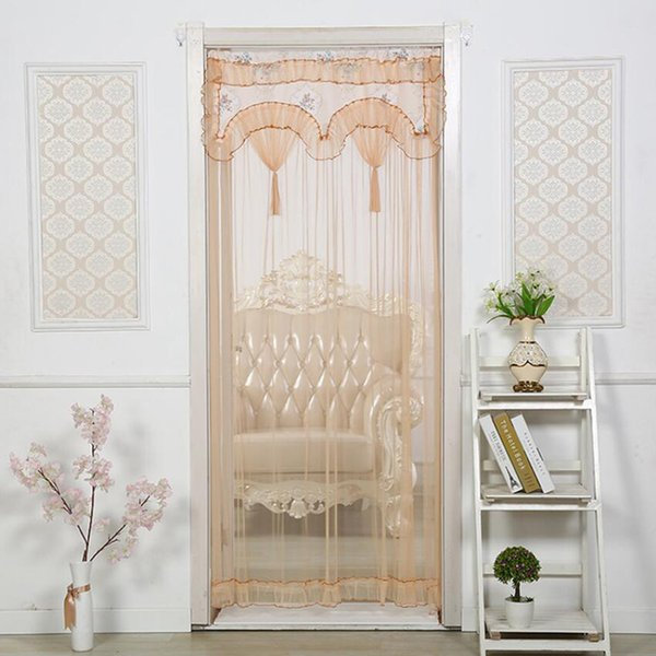 Home Bedroom Kitchen Living Room Bathroom Decorative Curtain Partition Drapes Mosquito Lace Fabric Curtain House Decoration