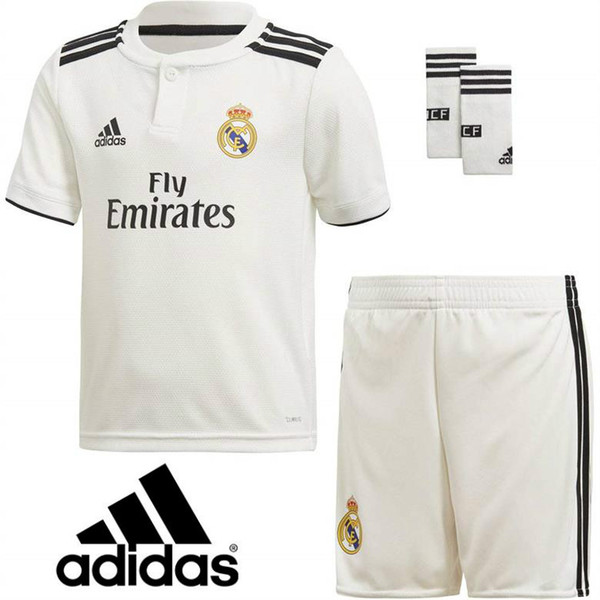 get cheap f3479 59680 2019 2019 Real Madrid Ea Sports Kids Kit With Socks Adidas Soccer Jerseys  ISCO ASENSIO BALE KROOS Football Shirts Home Away Football Jerseys From ...