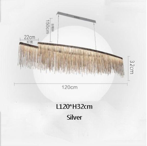 L120cm plata