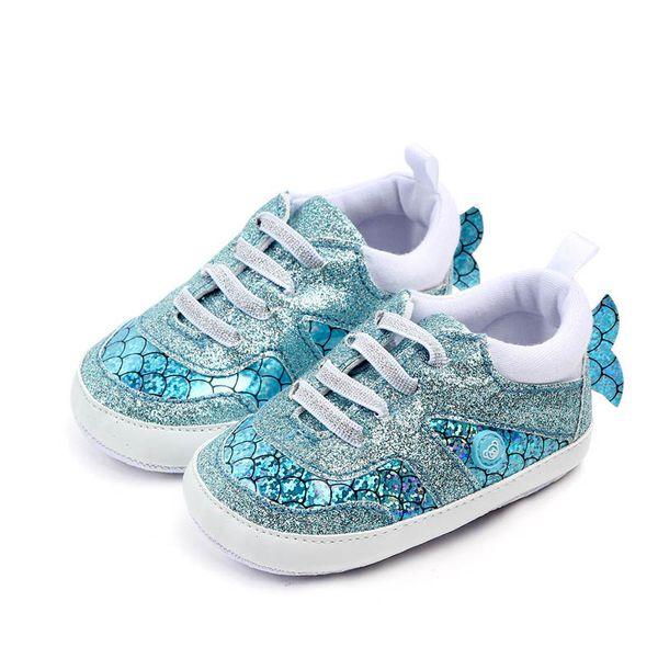 Meerjungfrau Babyschuhe Kleinkind Schuhe Baby Mädchen Turnschuhe Mokassins weiche erste Wanderer Schuh Säuglingsschuhe Neugeborenen Schuh Baby Turnschuhe A4412
