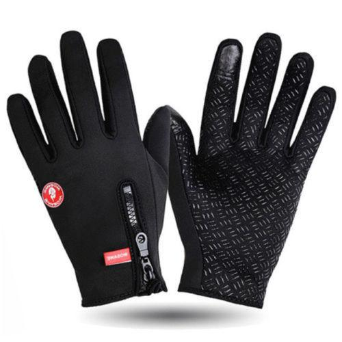 2018 Winter Touch Screen Gloves Men Warm Windproof Glove For Men Fashion Classic Black Pink Blue Mitts
