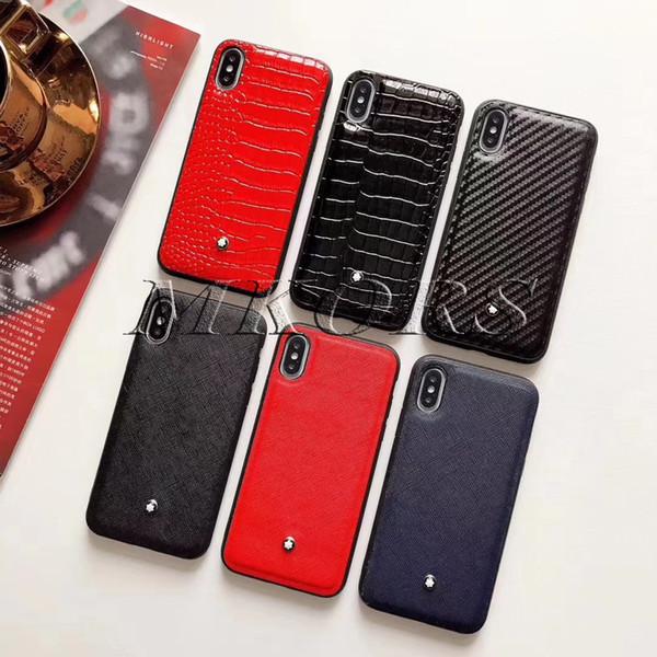Euro Trendy Téléphone Cas Crocodile Peau En Cuir Marque Marque Cas pour iPhone X XS MAX XR 8 7 6 6 s Plus Couverture Souple Coque Mode
