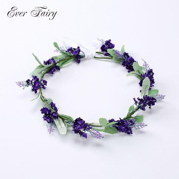 ever fairy women wedding wreath hair accessories bridal flowers crown hairbands girls artificial floral headbands