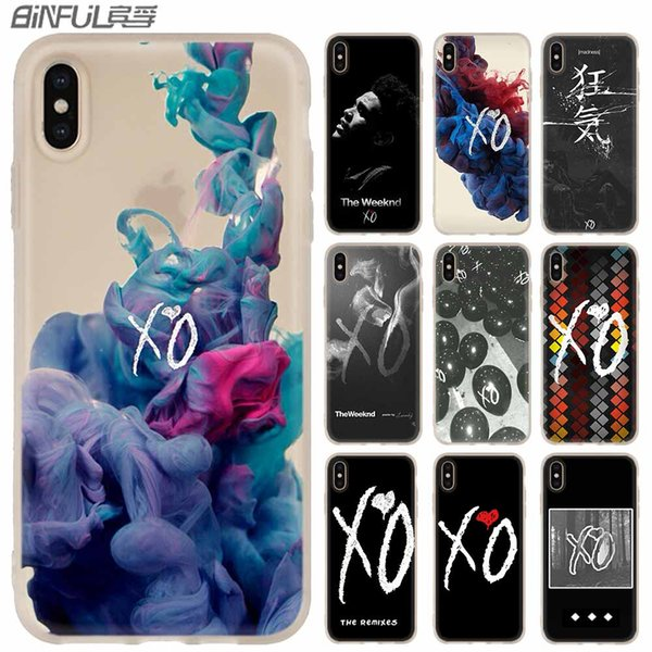 the weeknd xo logo phone cases luxury silicone soft cover for iphone xi r 2019 x xs max xr 6 6s 7 8 plus 5 4s se coque