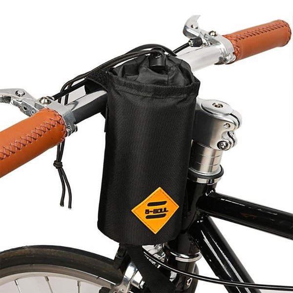 Bicicleta de estrada Frente Guidão Garrafa De Água Saco de Isolamento Ciclismo Bicicleta Cup Bottle Pouch Black # 79584