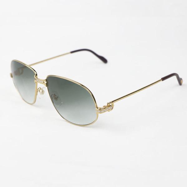 Lüks Güneş Gözlüğü Erkekler Aksesuarları için Retro Gözlük Kulübü Sürüş Gafas Vintage Metal Çerçeve Gözlük Gözlük ulculos De Sol Gölge