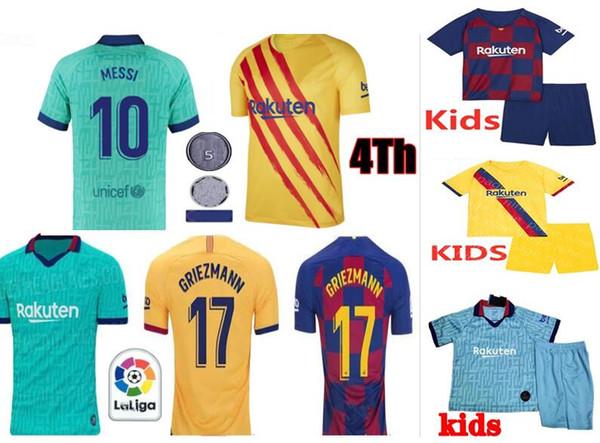 Thai FC Barcelona messi GRIEZMANN DE JONG soccer jersey 19 20 Barcelona Maillot de foot men kid 2019 2020 Barcelona Football shirt xxs-4xl