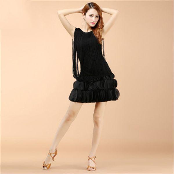 Compre Vestido De Baile Latino Con Borla Para Mujer1920s Lentejuelas Fringe Charleston Flapper Gran Gatsby Danza De Escenario Vestidos Vestidos