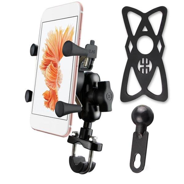 Motorcycle Phone Charging Holder Car USB Mobile Phone Charger Electric Car Usb Charging Holder Stand