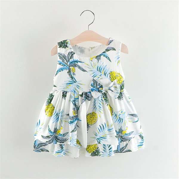 good quality toddler girls dress summer flower style dress casual clothing baby dressing for party holiday tutu dance dresses infant