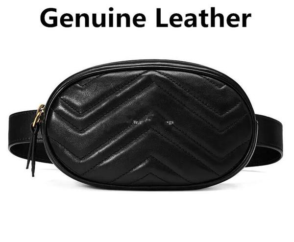 Bolso de la cintura Monedero de las mujeres Embrague Piel de vaca Bolso de cuero genuino Diseñador de la marca de moda de lujo diseño famoso envío gratis