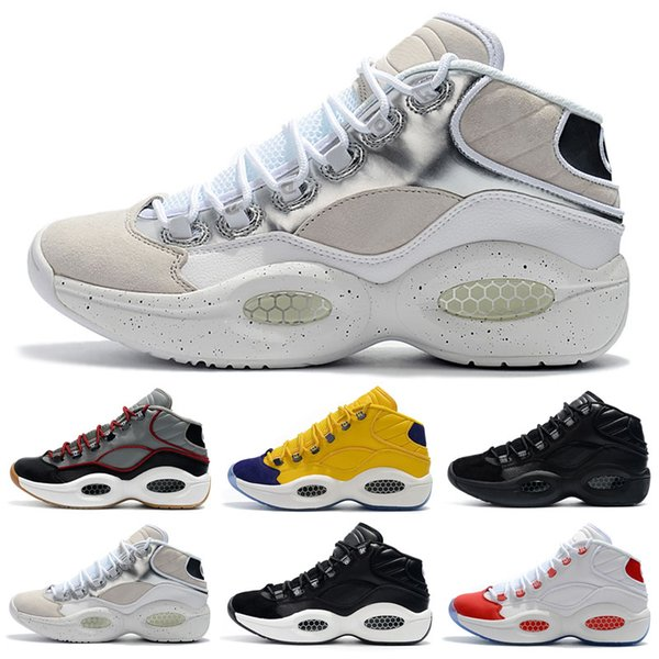 Hot sale designer shoes Allen Iverson Question Mid Q1 Basketball Shoes Answer 1s Zoom Kids running Athletic shoes luxury Elite Sport Sneaker