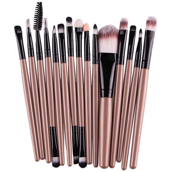Newly Professional 15PCS Makeup Brushes Set Eye Shadow powder Foundation Eyebrow Lip Brush Makeup Brushes Tool 30p1213