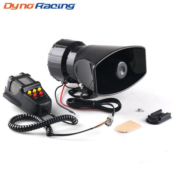 best selling Dynoracing 5-Sound Loud Car Warning Alarm Police Fire Siren 130dB Air Horn PA Speaker 12V 80W Car Accessories Car Warning Alarm