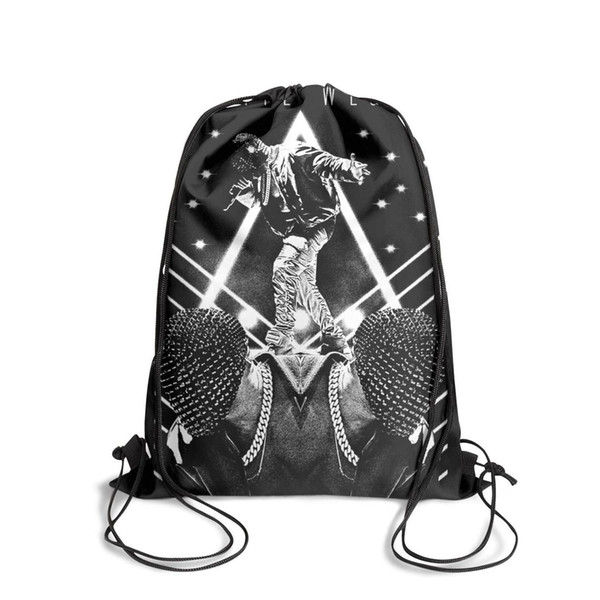 Drawstring Sports Backpack Kanye West Yeezus Tour Musiccute daily Travel Beach Pull String Backpack