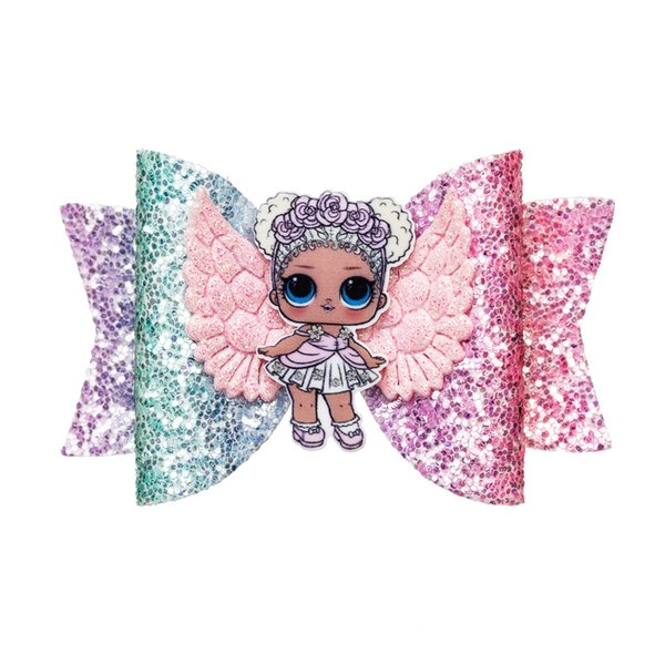 Thumblina LOL Doll Wing Glitter Bow Sparkly Hair Clip for Women Girls Hairpin Children Kids Barrettes Hair Accessories