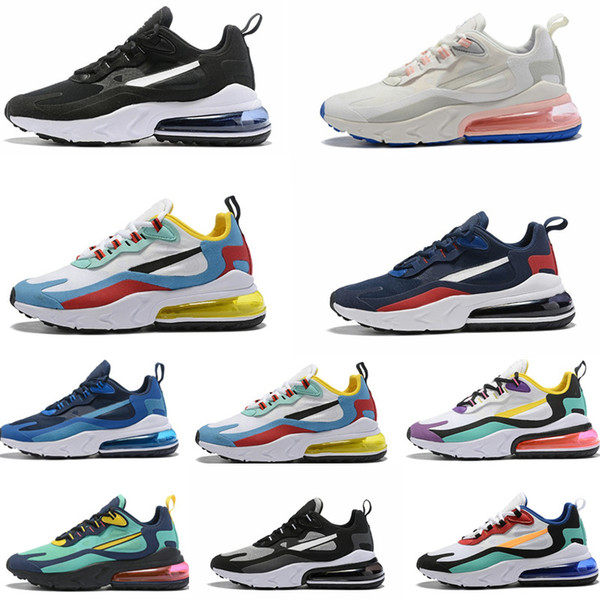 Großhandel Nike Air Max 270 React 27C Bauhaus KIDS Herren Laufschuhe 27c Hellviolett Weiß Gelb Lifestyle Sneakers Blau Void Sneakers Summit White