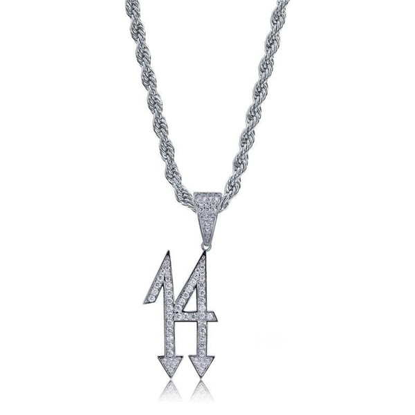 Fashion Hip Hop Necklaces Jewelry Ice Out Luxury 18K Gold Plated Chains Gem Pendant Necklace Men Bling Cubic Zirconia Necklaces