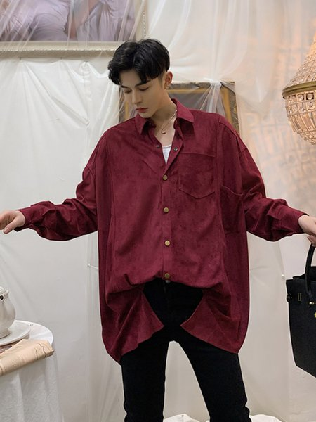 2019 Men Oversized Loose Long Sleeve Casual Shirt Male Streetwear Vintage  Fashion Plus Size Dress Shirts From Yonnie, $52.02 | DHgate.Com