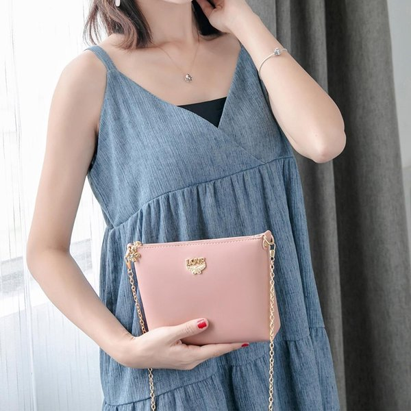 Women Korean Style Fashion Trend Shoulder Bags With Love Letter Messenger Slanting Shoulder Crossbody Phone For Women Girl Bag