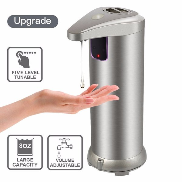 led hands touchless stainless steel automatic soap dispenser motion sensor convenient bathroom automatic soap dispenser