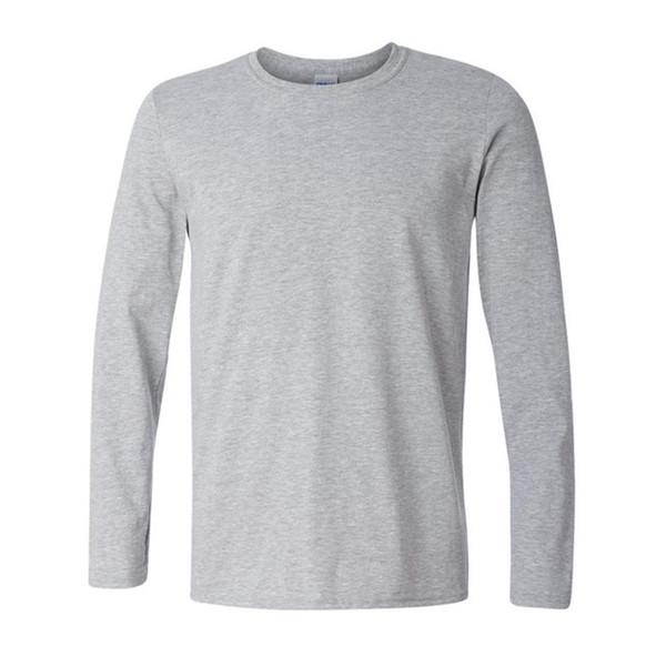 Brand New Classic Men T Shirt Long Sleeve O Neck Mens T-shirt Cotton Tees Tops Mens Brand Tshirt Plus Size Xs- Xxl Sweatshirts