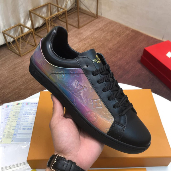 top popular Sneaker Luxembourg Men Shoes Lace-up Low Top Style Vintage Fashion Shoes Autumn and Winter Outdoor Walking For Male Sport Comfortable Shoes 2019