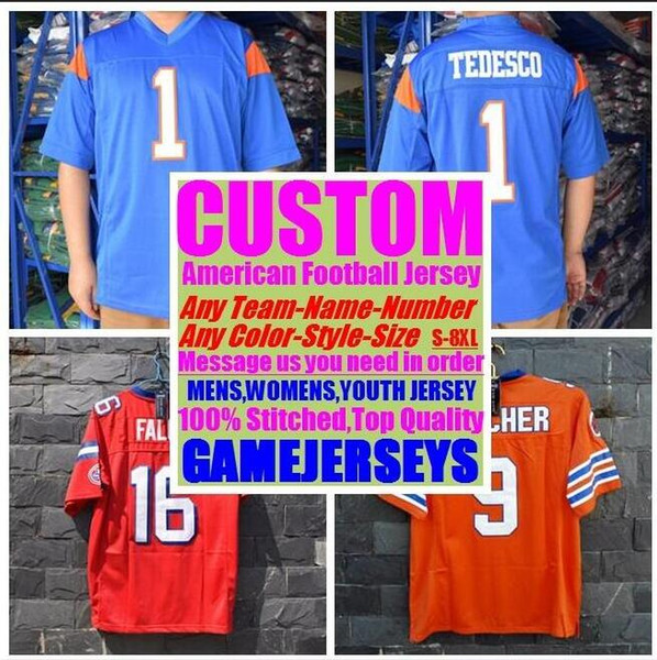 top popular Personalized american football jerseys college cheap authentic olive camo sports jersey stitched men womens youth kids 4xl 5xl 6xl 7xl 8xl 2019
