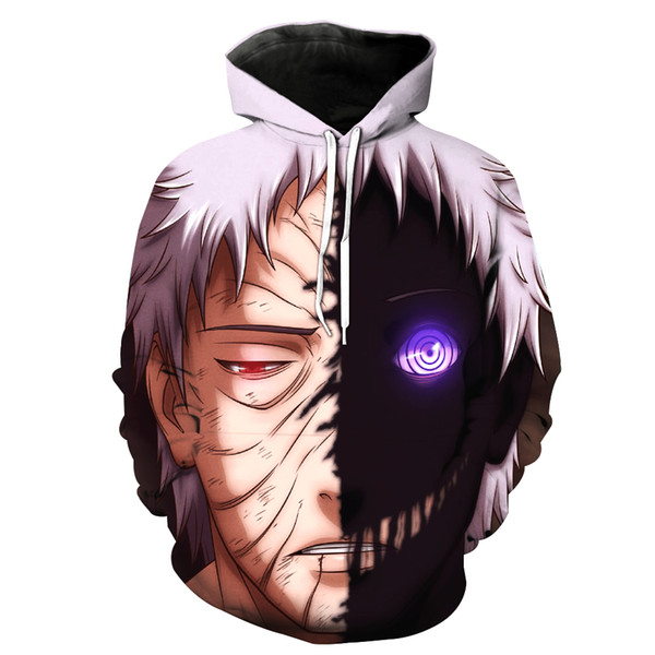 2017 New Fashion Men's sweatshirt Naruto print hoodies casual tracksuits hoody tops with pockets Free shipping s to 6xl