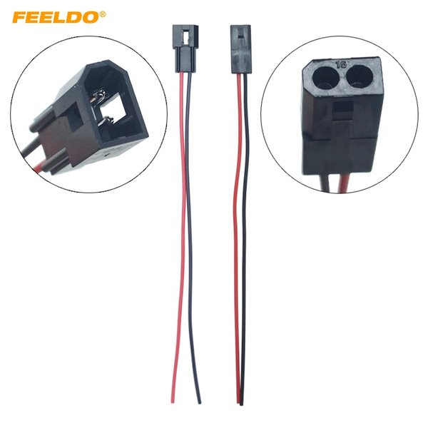 FEELDO 20Pcs Car HID Bi-xenon Projector Lens High Low Motor Headlight Connecting Wiring Cable Male/Female Retrofit DIY Wire