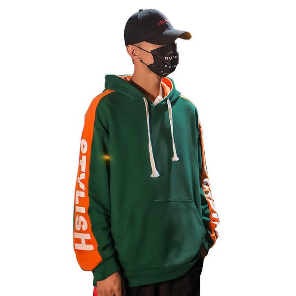 herbst buchstaben druck kapuzenpulli männer hip hop harajuku lose hoodie sweatshirts paar tragen hoodie pullover streetwear top