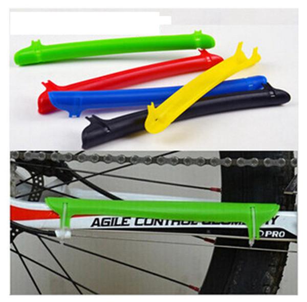 Catena di bicicletta di plastica stare la protezione della bicicletta adesivi catena di cura mountain bike pieghevole adesivi cura catena di auto protezione telaio bicicletta LJJZ344