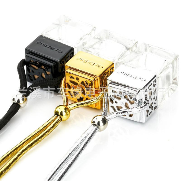 Magic Cube Perfume Bottle Glass Metal Color Empty Bottles Trumpet Air Freshener Essential Oils Diffusers New Arrival 2cyE1
