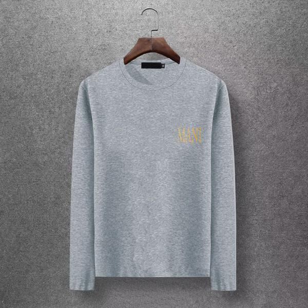 2019 Camicia a maniche lunghe di marca da uomo firmata con stampa di marca Designer Camicie casual di alta qualità da zona di grandi dimensioni T-Shirt casual EAR98303