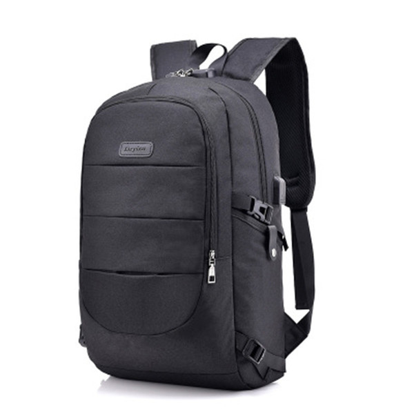 Men's business computer bag waterproof casual sports backpack outdoor travel bag, men and women 15,6-inch laptop backpack. School (black)