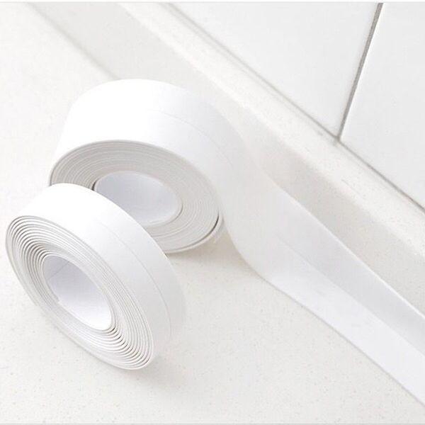 3.8cm*3.2m Kitchen Bathroom Waterproof Mildew Sealing Tape Wall Stickers Home Decor Corner Seam Sink Self Adhesive PVC Sticker
