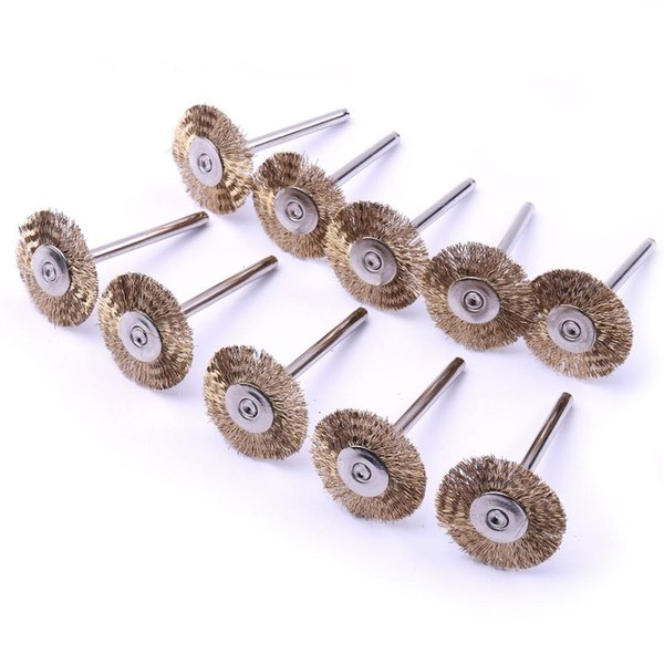 Mini Brass Wire Cup Wheel Polishing Brushes for Grinder Drill Rotary Tool Kit