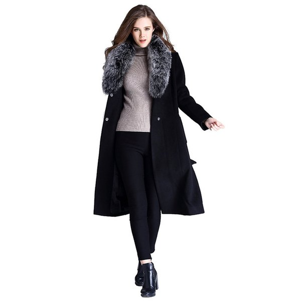 Autumn And Winter for print sport jacket brands fashion women Long Fund Woolen High-end Wool Overcoat Woman SWEATER Free shipping bodycon