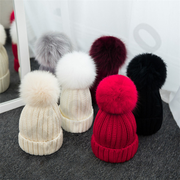 6 Color Women's Knitted Cap Autumn Winter Men Cotton Warm Hat Skullies Brand Heavy Hair Twist Beanies Solid Color Wool Hats 30pcs T1C437