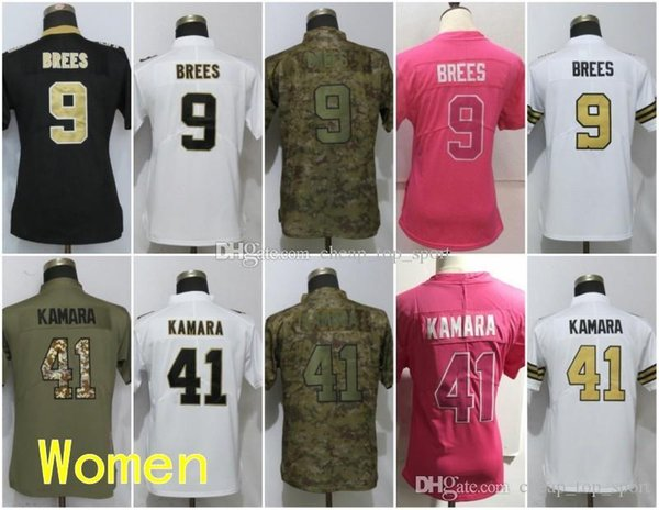 half off 5368b 09b80 2019 Women New Orleans Jerseys 9 Drew Brees Saints 41 Alvin Kamara Olive  Salute To Service Ladies Size S 2XL From Cheap_top_sport, $27.41 |  DHgate.Com