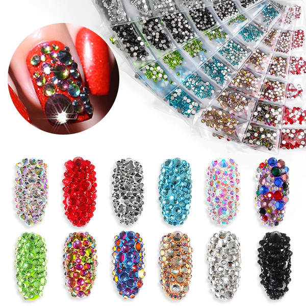 best selling Tamax NA007 1300pcs Shiny Crystal Nail Art Rhinestones Decorashion Diamond for Nail Tips Manicure Nails Jewelry Stones Accessories