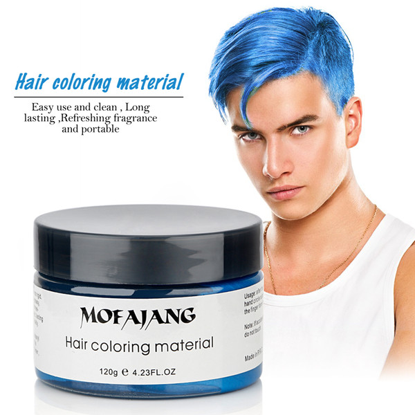 top popular 2019 Newest Mofajang Hair Wax Hair Styling Pomade Strong Style Restoring Pomade Wax Big Skeleton Slicked 8 colors free shipping 2021