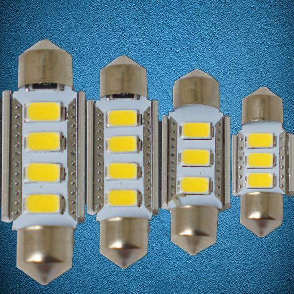 2X Ultra Bright Warmweiß / Weiß CANBUS 5730 SMD LED 31mm 36mm 39mm 41mm C5W FEHLERFREIE LED-Lampen für die Fahrzeugkuppel