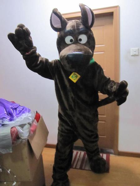 Коричневый Scooby Dog Костюм Талисмана Костюм Хэллоуин Рождество День Рождения Платье Костюм Scooby Dog мультфильм костюмы