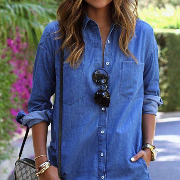 Vestido de camiseta de moda-verano para mujeres vestidos casuales de mezclilla sueltos primavera otoño botones de manga larga ropa de vestir de diseñador