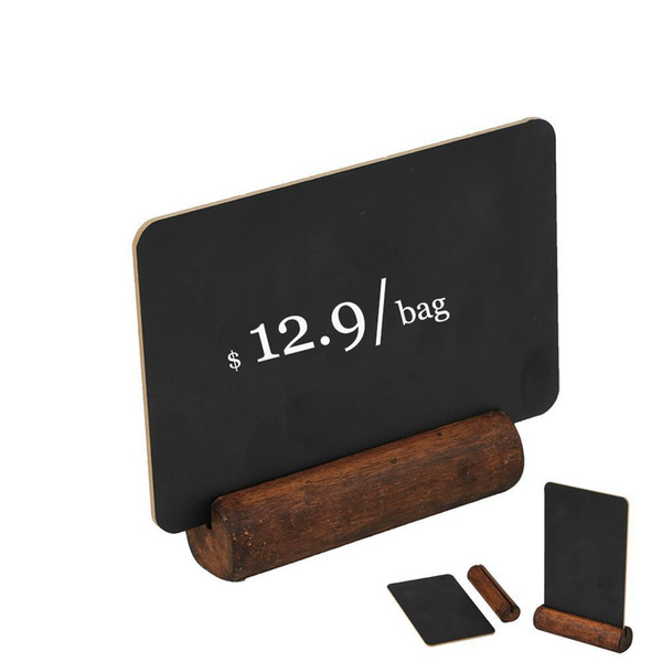 top popular Black Chalkboard Frame Table Chalkboard Label Welcome Signs Blackboard Wooden Menu Stand Hand Writing Price Tag Display Stand 2021