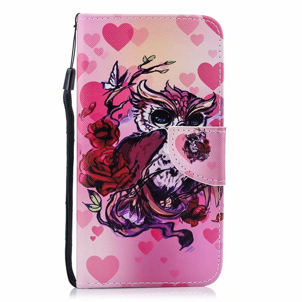 Leather Wallet Case For Huawei P30 Nova 4 Mate 20 Pro Y9 P Smart 2019 Galaxy S10 Lite A9 Flamingo Butterfly Dreamcatcher Wolf Flip Covers
