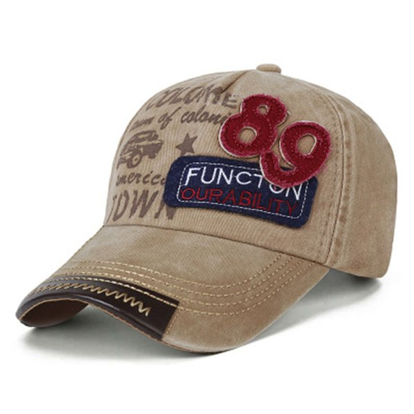 89 Retro Baseball Cap Letter Unisex Embroidery Snapback Caps Men and Women Hip Hop Street Hat 6 Color