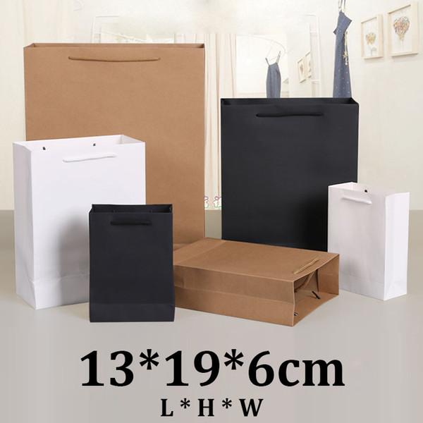 13x19x6cm vertical gift black card board paper bag