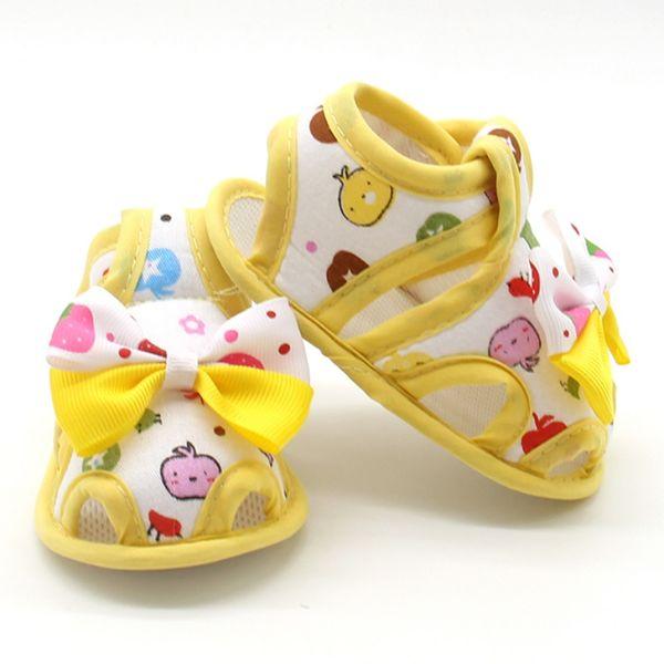 Infant Toddler Princess First Walkers Prewalker Shoes Bow Shoes Sandals 0-18 M